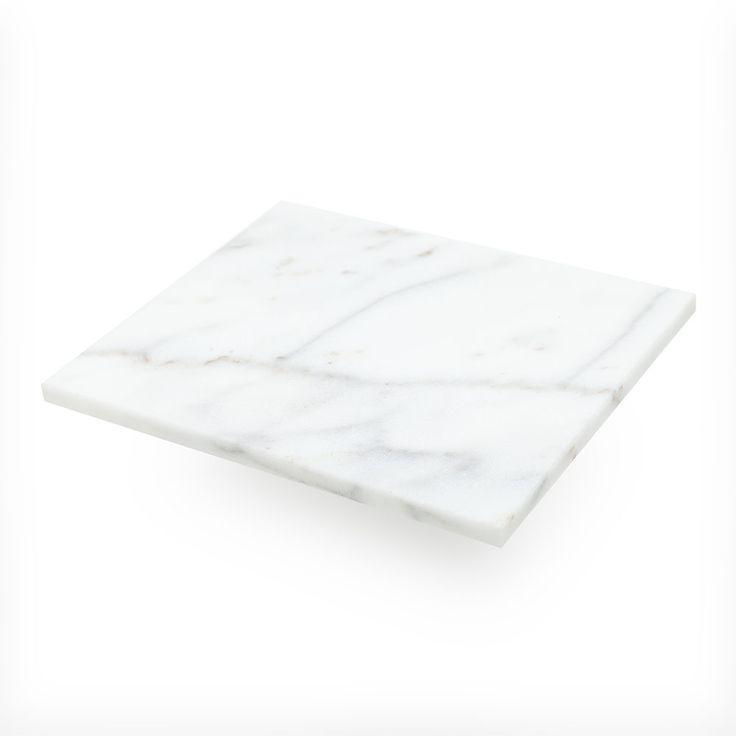 Loft+Nattbord+Topplate,+Hvit+Marmor,+Decotique