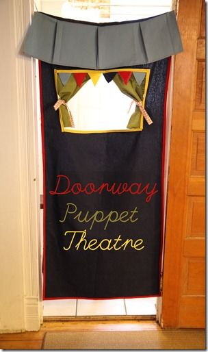 Doorway Puppet Theatre. Awesome idea!