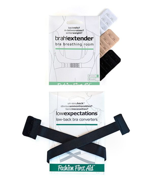 Look at this Solutions That Stick Three-Piece Black & White Bra Strap Extender Set on #zulily today!