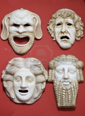 Maschere Foto Royalty Free, Immagini, Immagini E Archivi Fotografici: Ancient Greek, Greek Costumes, Google Search, Greek Theatre Masks, Ancient Greece, Greek Theater, Theatre Costumes, Ancient Theatre, Griechisch Masken