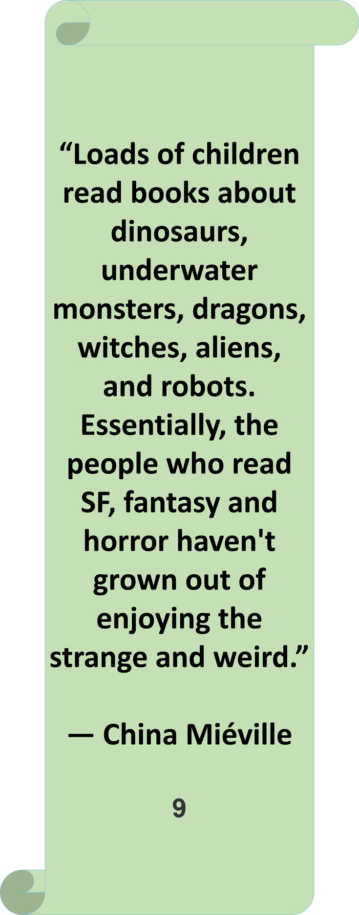China Mieville #quote #author #reading