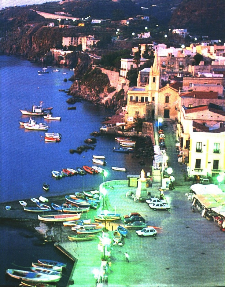 Lipari by night  Italy, been there, had lunch by the water :)