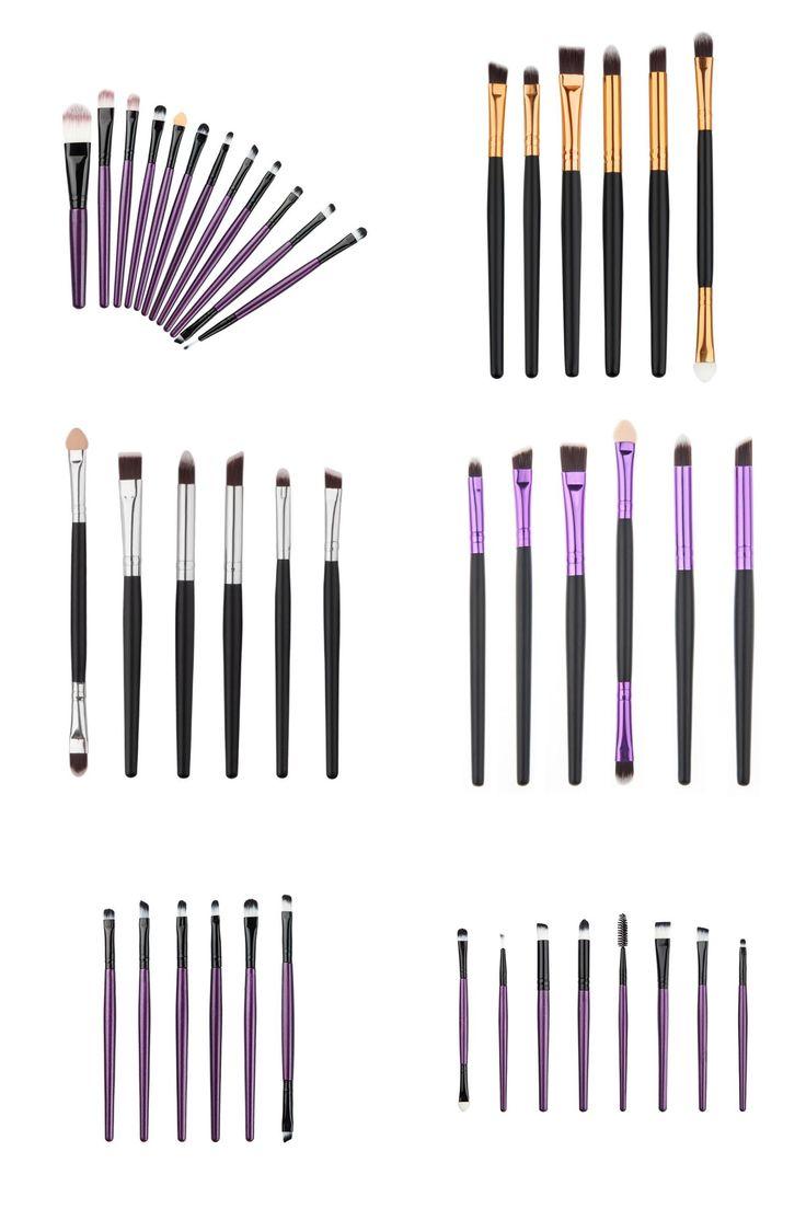 [Visit to Buy] Professional Makeup Brushes Set Make Up Wood Tools Cosmetics Foundation Face Eyeshadows Brush Kit 6/8/12 Pcs/set #Advertisement