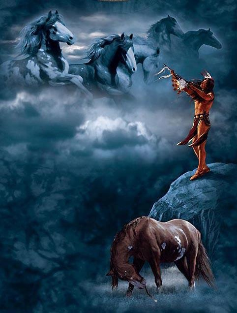 Spirit Horses of the Heart. Horse is my spirit animal. He claimed me and saved me at an early age. Horse knows your intention. Communicating with Horse is like telepathy. Horse is powerful, loyal, faithful, and warns of danger. Spirit Horse can carry you to all four directions in life and fly to and from Heaven. With the assistance of someone who understands the horse and human psychology, horses are used to heal the human heart and mind.