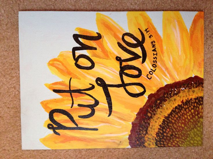 Colossians 3:14 canvas sunflower