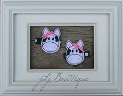 Hot Pink Cow Hair Clips -$5.00 for pair available on jLj Bowtique