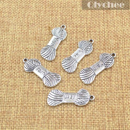 Aliexpress.com: Comprar 5 unids costura que hace Wwool bola del hilado en forma de plata tibetana collar / de la pulsera colgante de los encantos DIY de colgante de bricolaje fiable proveedores en Qlychee