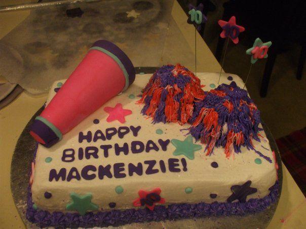 Cheerleading Cake cakepins.com
