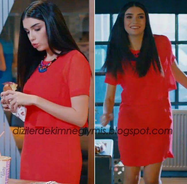 Medcezir - Eylül (Hazar Ergüçlü), Red BCBG Dress