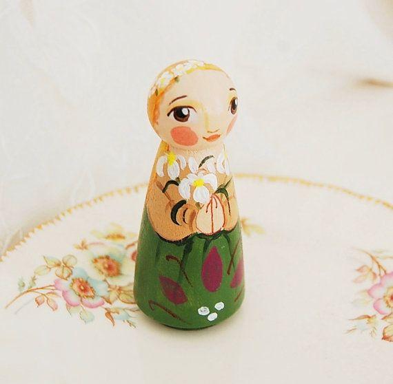 St Maria Goretti Wooden Statue - Catholic Saint Doll - Made to Order