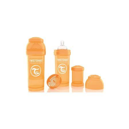 Twistshake Антиколиковая бутылочка 260 мл., Twistshake, оранжевый  — 849р.  Антиколиковая бутылочка 260 мл., оранжевый от шведского бренда Twistshake (Твистшейк), придет по вкусу малышам и современным родителям. Эти бутылочки идут в комплекте с контейнером для сухой смеси, чтобы можно было готовить смесь в любом месте непосредсвенно перед кормлением. Также в комплект входит решеточка для разбивки комочков смеси, делая саму смесь идеальной. Материал бутылочки имеет свойства сохранения…