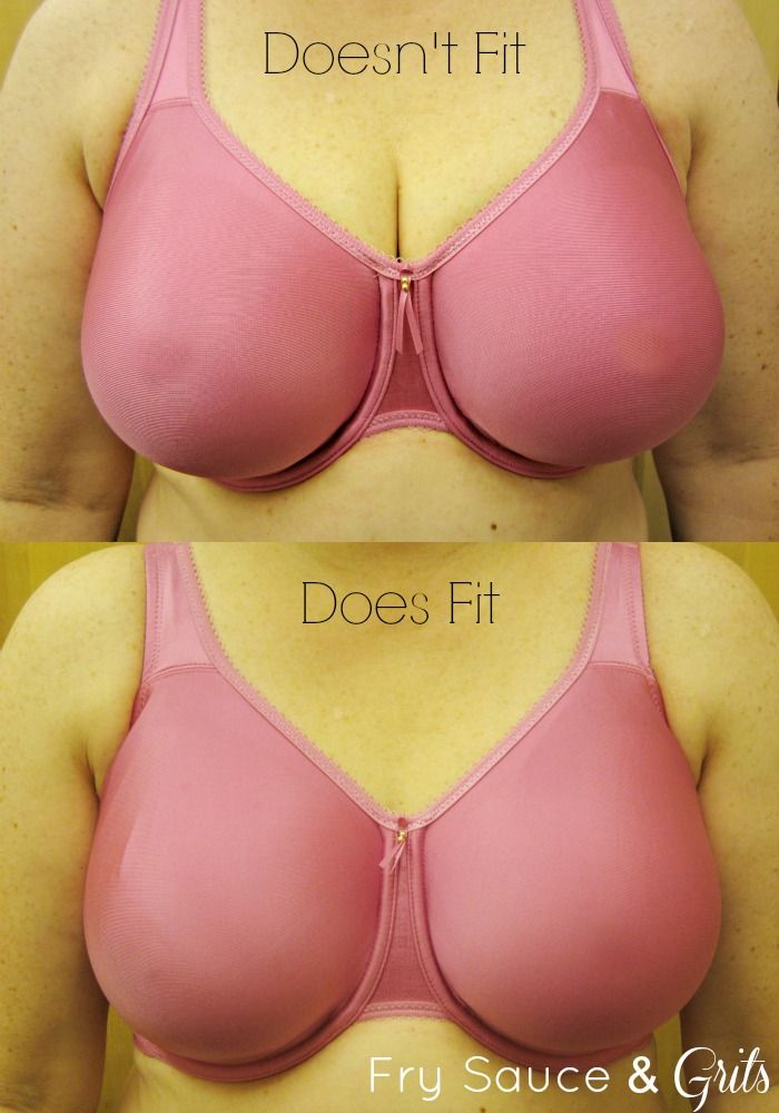 Correct Bra Size Guide from FrySauceandGrits.com