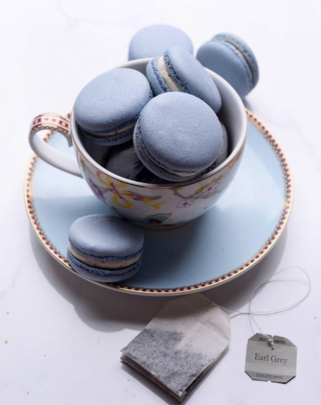 Macarons bleus gris