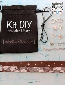 Créer votre propre bracelet en tissus Liberty avec ce kit de création de bijoux DIY. Le kit comprend toutes les fournitures et un tuto en vidéo !