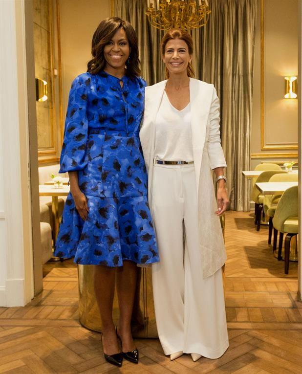 Los looks de Michelle Obama en su visita a la Argentina Michelle Obama junto a Juliana Awada NA
