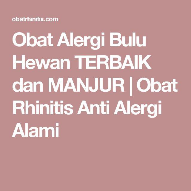 Obat Alergi Bulu Hewan TERBAIK dan MANJUR | Obat Rhinitis Anti Alergi Alami