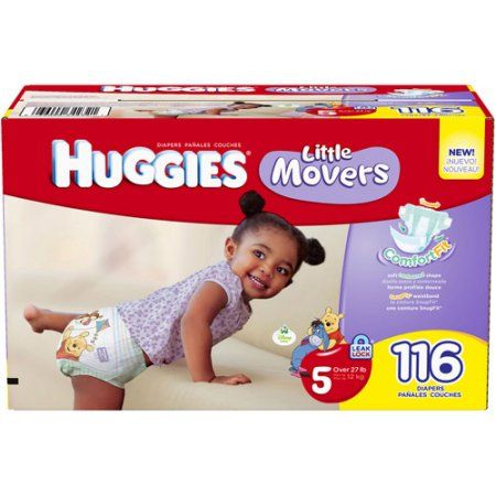 Huggies Little Movers Diapers Size 5, 116 ct