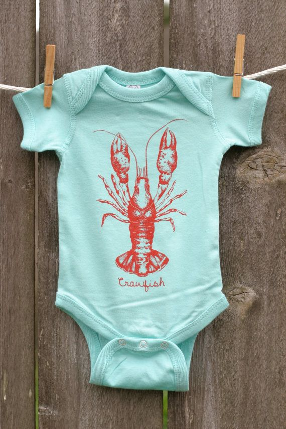 Every great beer deserves a side of crawfish! Get this adorable little onesie for the lil crawfish in your life!