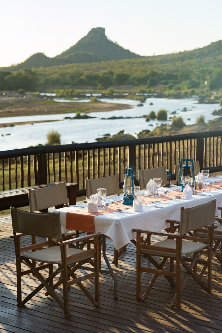 All your meals will be served at the deck looking over the Olifants River. #SefapaneMagic