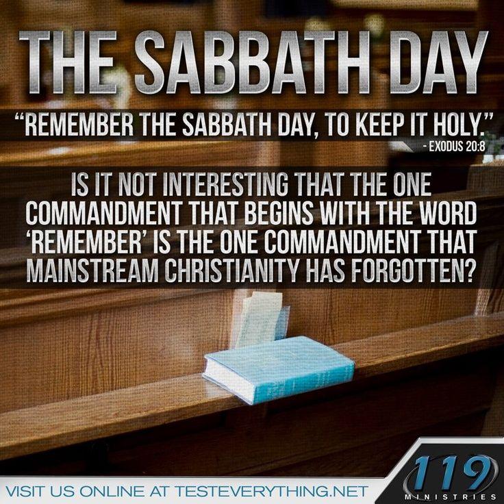 The Sabbath Day! 119 ministries