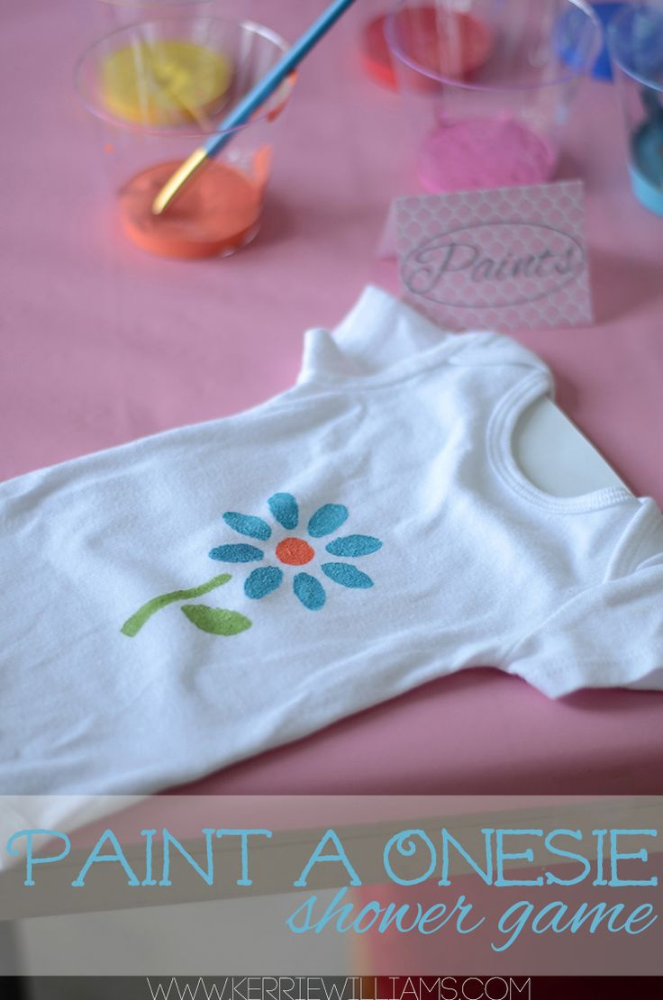Baby Shower Games that are fun for everyone!.  We could do some make a onesie and some bibs too.  That way there is a mix and Ash doesnt get a bunch of onesies the baby probably wont ever wear lol