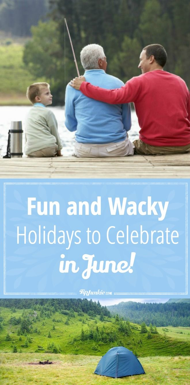 Join us! Here are Fun and Wacky Holidays to Celebrate in June! via @tipjunkie