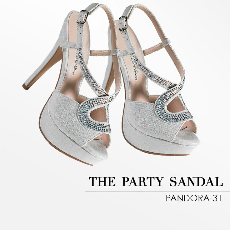 Camille La Vie Peep Toe Sandals with Stones - the perfect shoe for weddings and bridal parties: Wedding