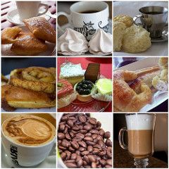 Coffee and pastry mosaic