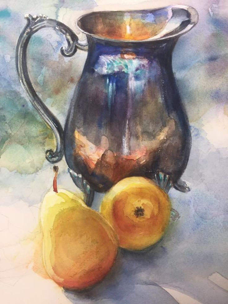 Рисунки акварелью натюрморт фото