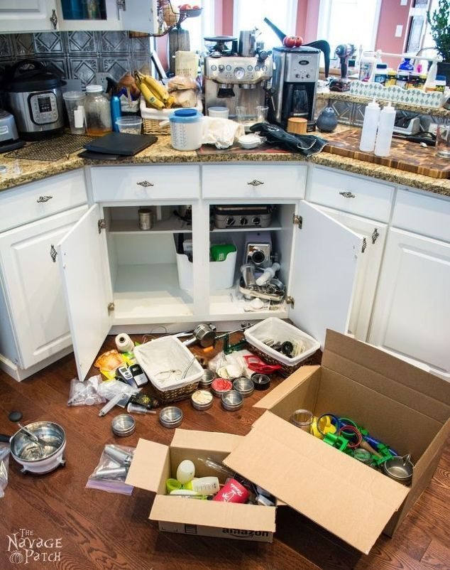 You may want to empty your kitchen cabinets after this storage update