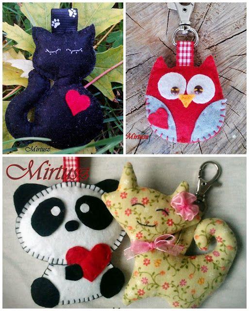 Mirtusz : Melyik szívet válasszam ??? Filc kulcstartók - szívesen! filc cica , fekete cica, filc bagoly, panda maci, filc panda, cica kulcstartó, bagoly kulcstartó, panda kulcstartó