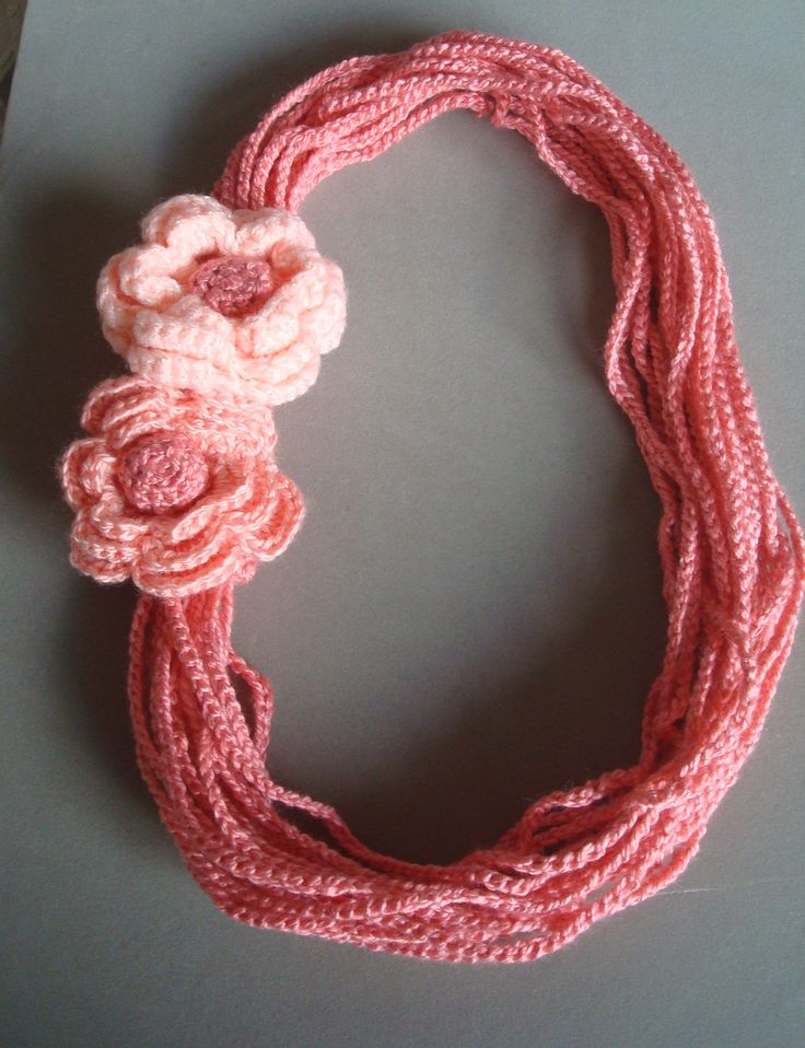 Hand crochetted necklace