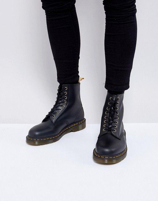 1a964e3da97 Dr Martens vegan 1460 8-eye boots in black in 2019 | s t y l e ...