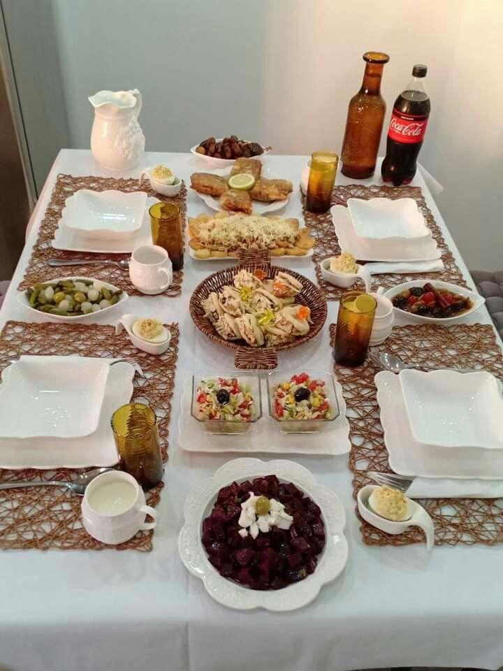 Table Algerienne طاولة أكل جزائرية أطباق جزائرية المطبخ الجزائري In 2021 Recipes Food Desserts