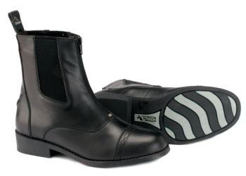 Dublin Ladies RCS Advance Zip Paddock 7 1/2 Black by Dublin. $69.99. Dublin(R) Ladies' RCS Advance Zip Paddock Boots Quality leather boots feature Dublin's exclusive RCS footbed for all day comfort! Perfect for everyday riding. Features: Quality Leather Boots RCS (Rider Comfort System) footbed for the ultimate comfort YKK front zipper Stylish stitched toecap Spur rests Item Specifications: Material: Leather Colors: Black, Brown Sizes: Ladies' 5.5, 6, 6.5, 7, 7.5, 8, 8.5, 9, 9.5, 10, 11