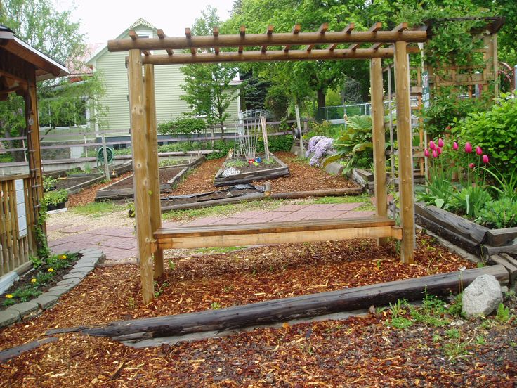 27 best grape vine arbors images on pinterest grape vines garden ideas and grape arbor - Arbor bench plans set ...