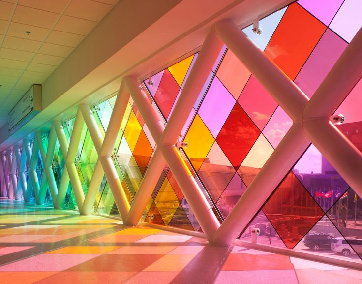 """Harmonic Convergence"", Environmental Graphic Design, Glass Art, at Miami Airport © 2011, PhenomenArts, Inc., Christopher Janney, Artistic D..."