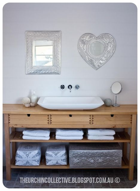 The Urchin Collective converted her NORDEN by IKEA into a vanity table