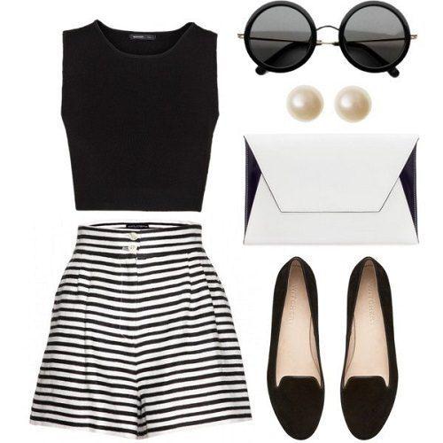 Kombination mit Shorts für den Sommer