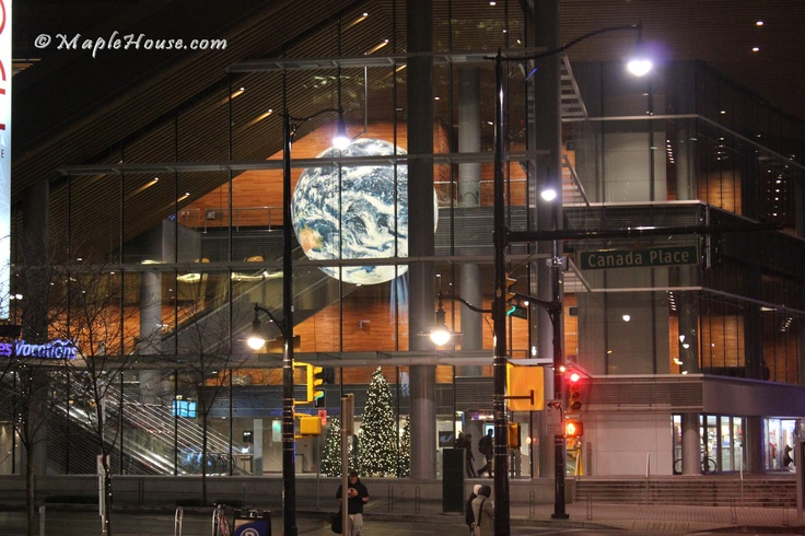 Vancouver Convention Centre at Downtown Vancouver - Vancouver at night