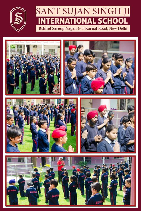 Morning Assembly  http://sssjischool.com At Sant Sujan Singh Ji International School we give focus on morning Assemblies that helps our students to establish a spiritual connection with God through Prayers. It is a symbol of unity of our school. It helps us to cultivate a sense of belonging towards our school.  #school #class #teacher #delhi #prayer #morningassembly #santsujaninternationalschool