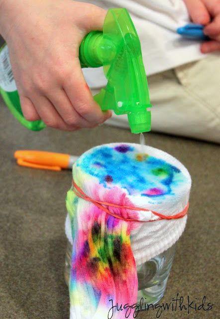 Making sharpie tie-dye socks! Repinned by Apraxia Kids Learning. Come join us on Facebook at Apraxia Kids Learning Activities and Support- Parent Led Group.
