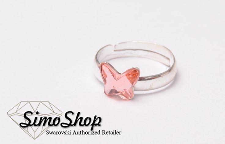 Inel din argint 925 cu cristale swarovski. #simoshop #bijuterii #accesorii #argint #swarovskicrystals #swarovski
