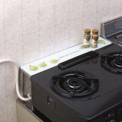 ガスコンロ奥の隙間ラック 通販のベルメゾンネット ガスコンロ コンロ周り 収納 インテリア 家具