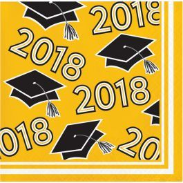 2018 yellow beverage napkins 36ct. |Wally's Party Factory #2018 #Yellow #Beverage #Napkins