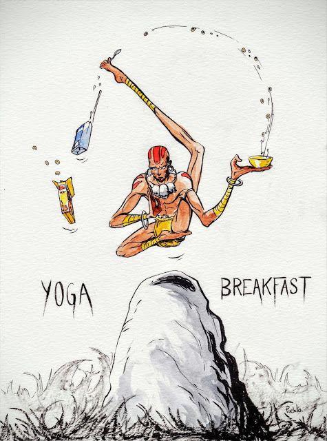Dhalsim street fighter fanart A yoga Breakfast