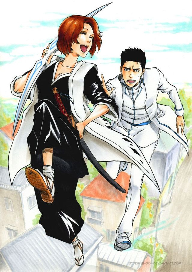 I think this is Ichigo's mom and dad from Bleach(: