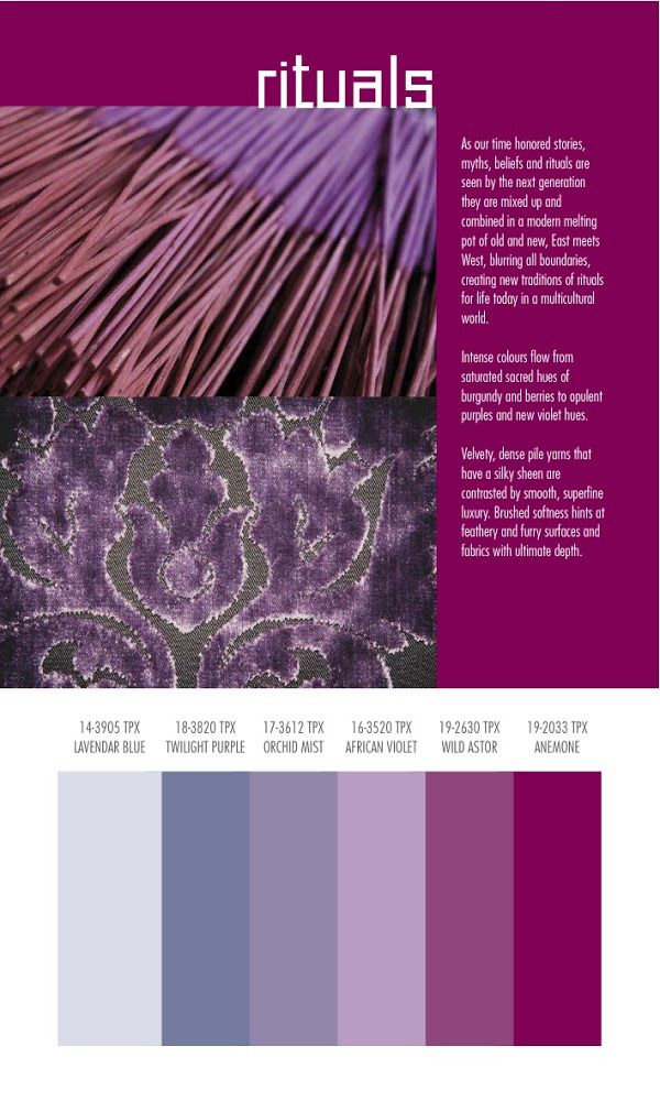 Autumn/Winter 2014/2015 Color and Textile Trends by Spin Expo | Nidhi Saxena's blog about Patterns, Colors and Designs