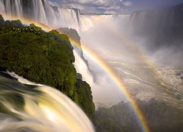 Double rainbow in the Iguazu Falls