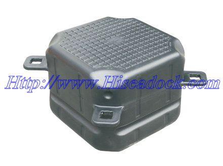 black  color single pontoon cubes floats   size :500x500x400mm